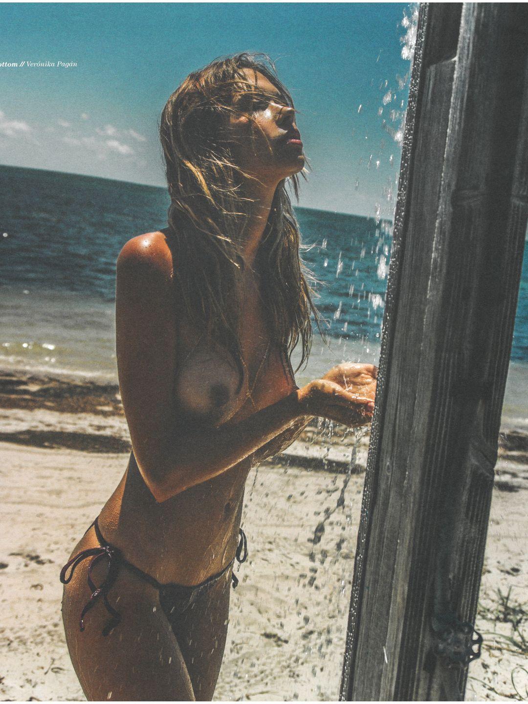 Nudist beach shower