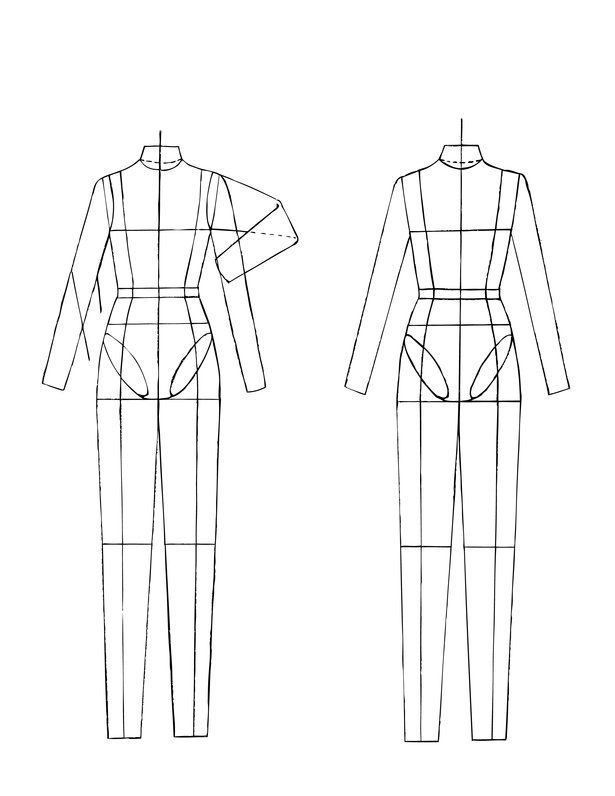 Croquis for technical drawing #fashion | Fashion Design Sketches ...