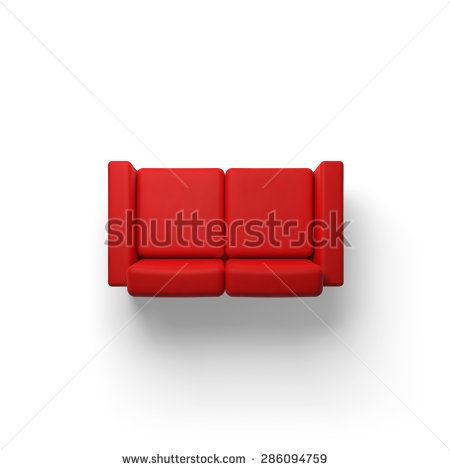 Sofa Top View Stock Photos Images Pictures Stock Photos Red Sofa Top View