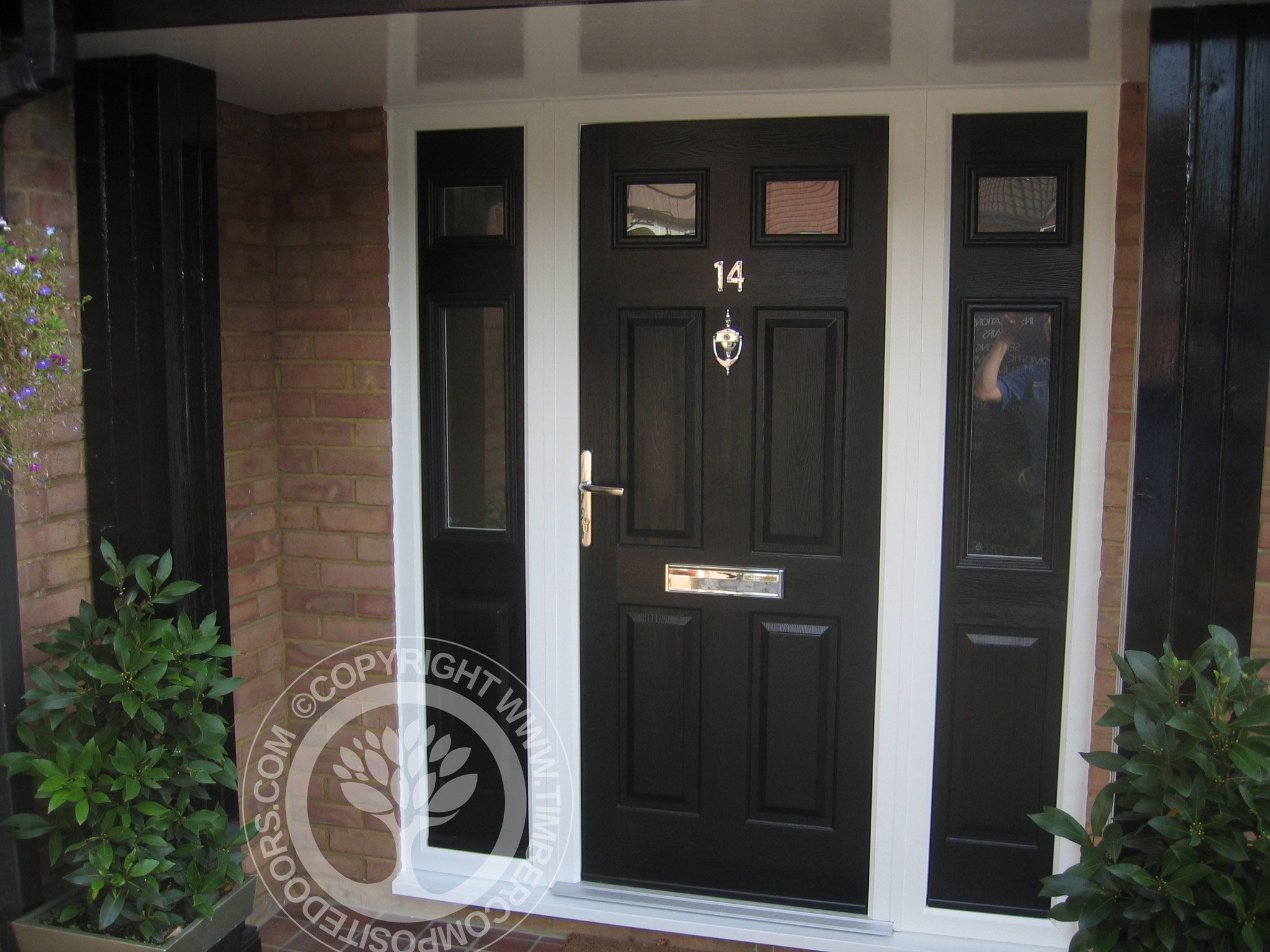 Collection wooden panel door design pictures images picture are - Solidor Tenby Composite Door In Black With Frames And Side Panels Part Of Our Timber Core Composite Door Range From The Solidor Collection You Can Design