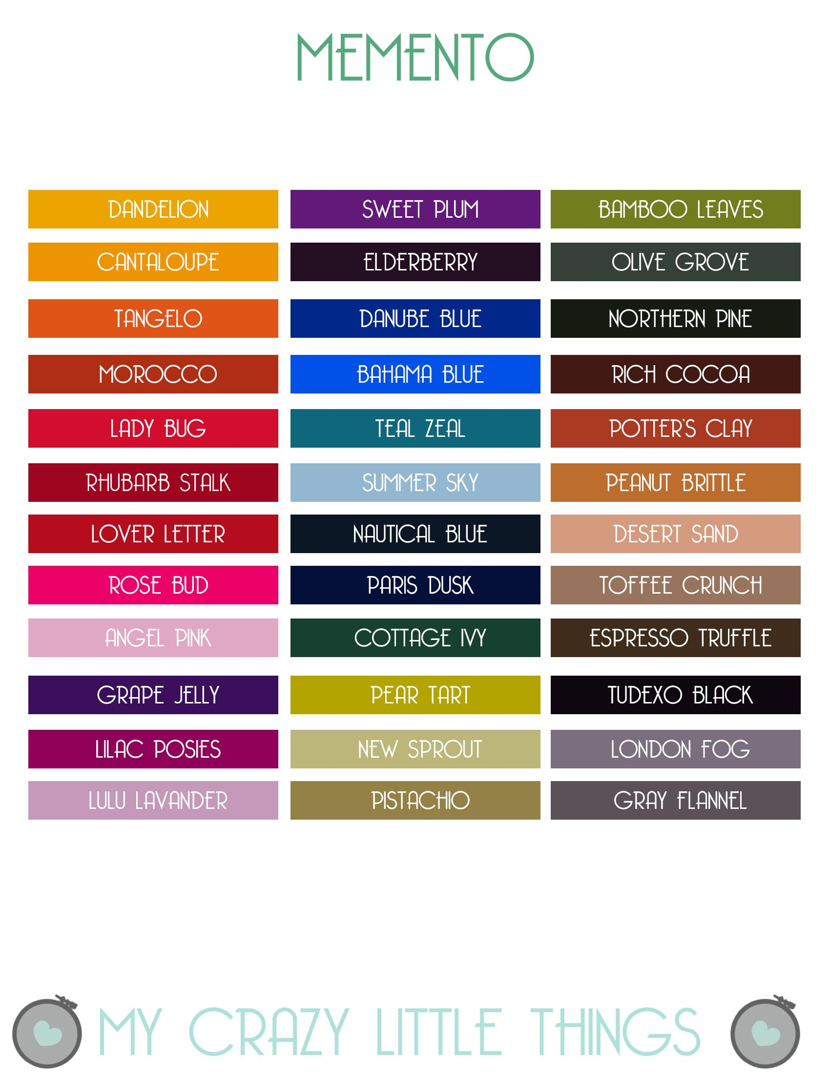 Etiquetas tintas memento printables pinterest colour chart etiquetas tintas memento craft organizationcraft storagecolour chartmixed media journalink nvjuhfo Image collections