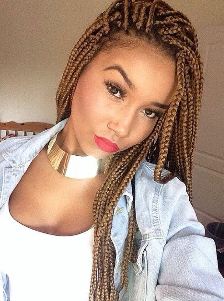 65 Box Braids Hairstyles for Black Women | Box braids