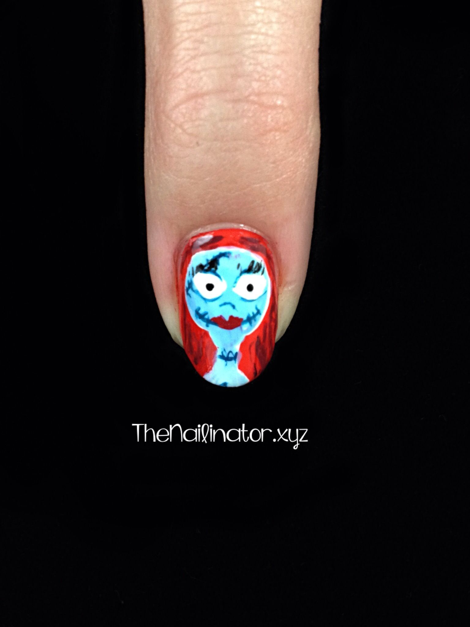 Nightmare Before Christmas Nail Art - Sally Close-up | Halloween ...
