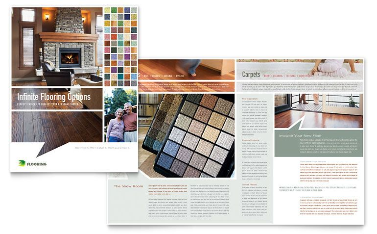 Carpet \ Hardwood Flooring Brochure - Word Template \ Publisher - brochure template on word