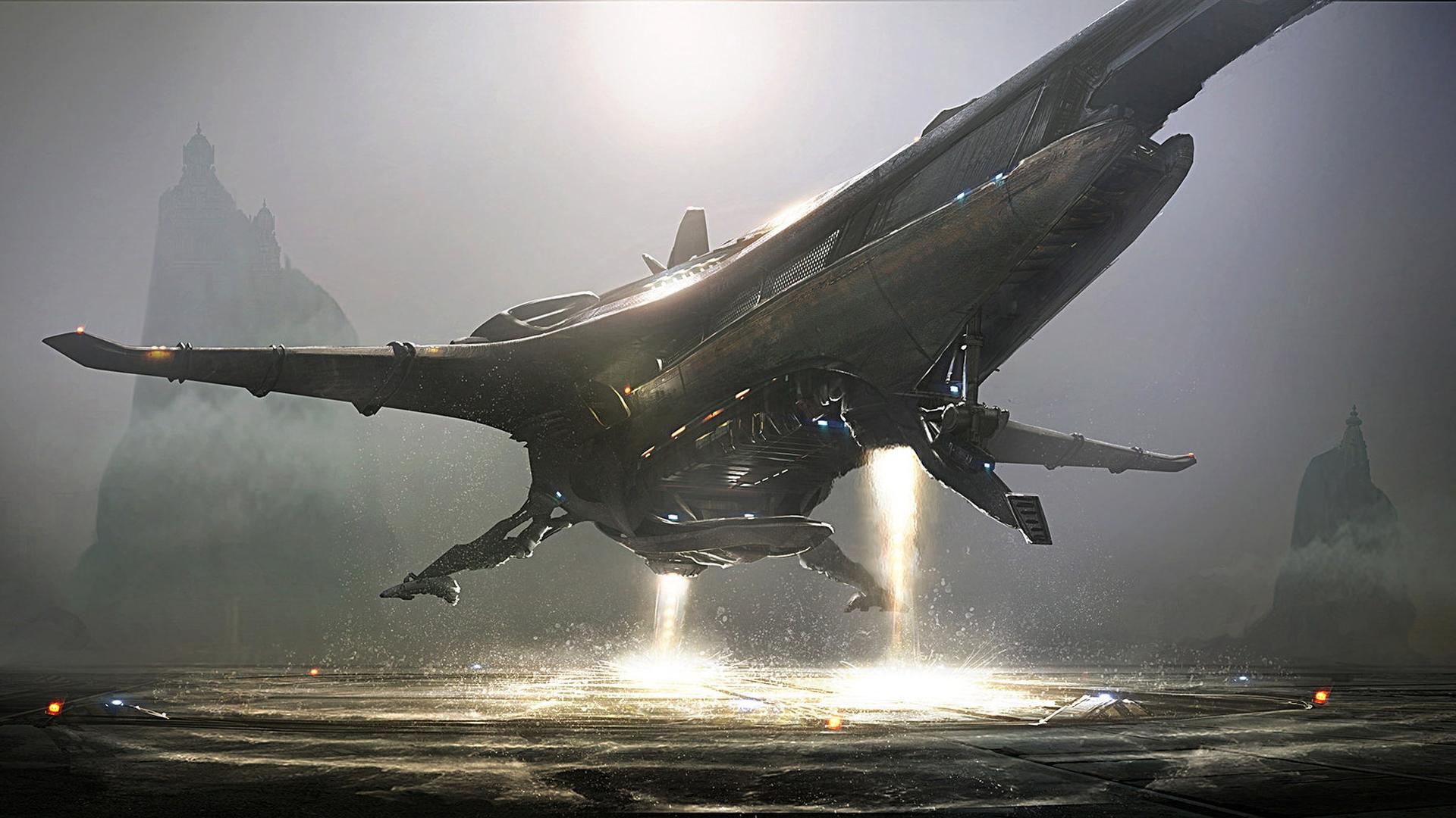 Fantasy Art, Science Fiction, Spaceship, Aliens, Banu