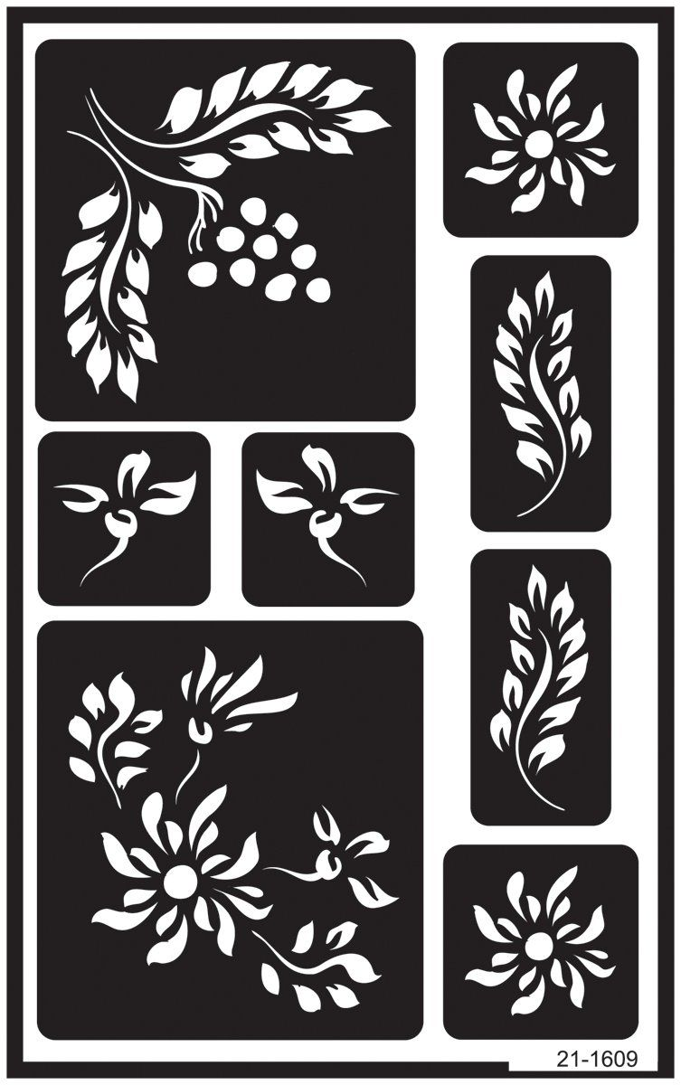 Armour Etch Over N Over Stencil Berry Floral Ad Etch Ad Armour Stencil Floral Glass Etching Stencils Glass Etching Stencils