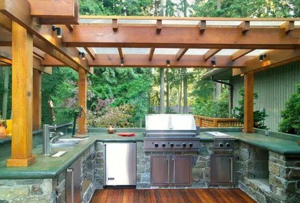 Cuisine Exterieure En Pierre Outdoor Rooms In 2018 Outdoor