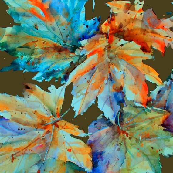 Autumn Leaves | Watercolor Art | Pinterest | Leaves ...