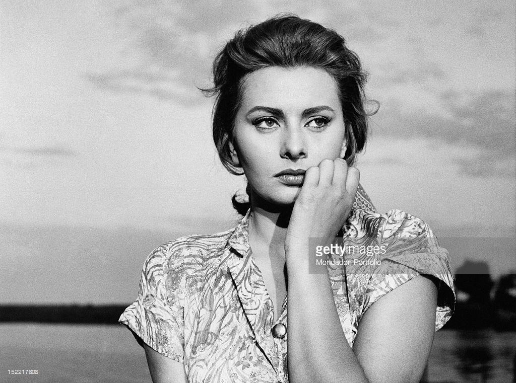 Sophia Loren in a scene from the movie 'The River Girl'. 1954.
