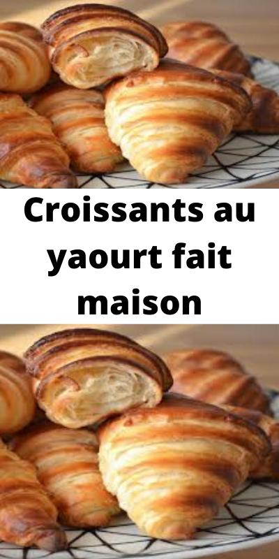 Croissants Au Yaourt Fait Maison En 2020 Recettes De Cuisine Recette Croissant Facile Recette