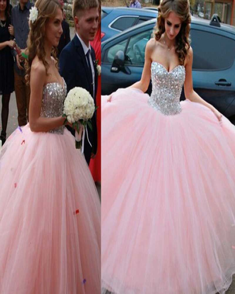 Long Custom Prom Dress,blush prom dress,ball gown dress,prom dress ...