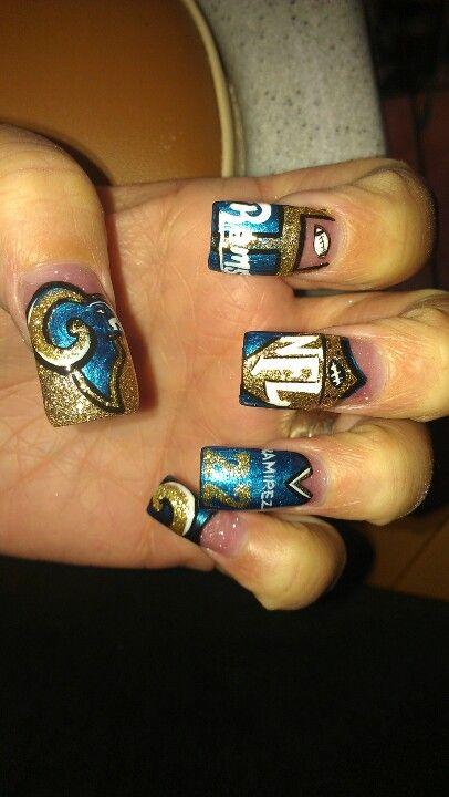 St Louis Rams Nail Art Sports Nails Football Nail Designs Hair And Nails