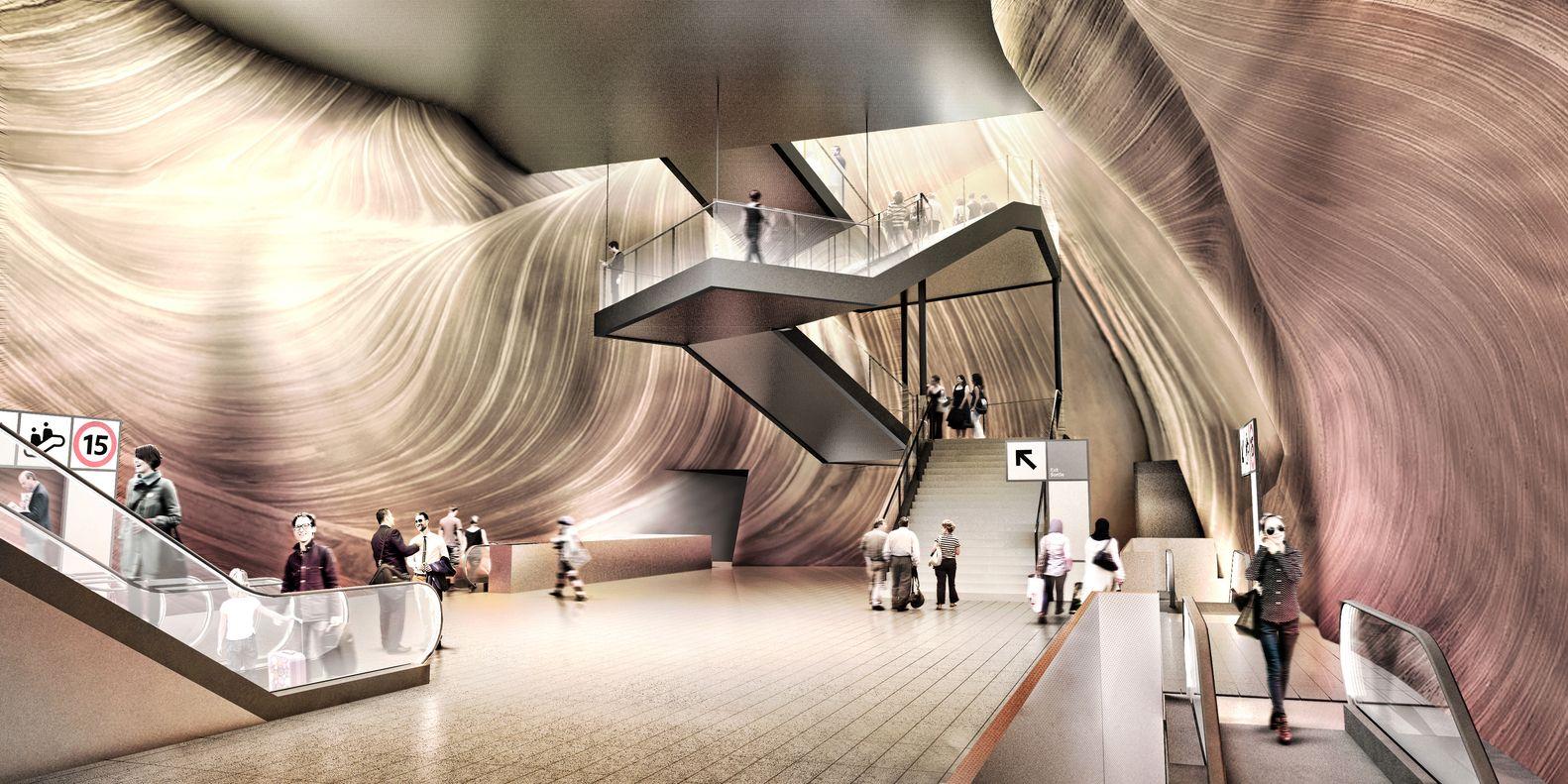 Atelier King Kong Unveils Designs for Grand Paris Express Metro Station,© atelier d'architecture KingKong