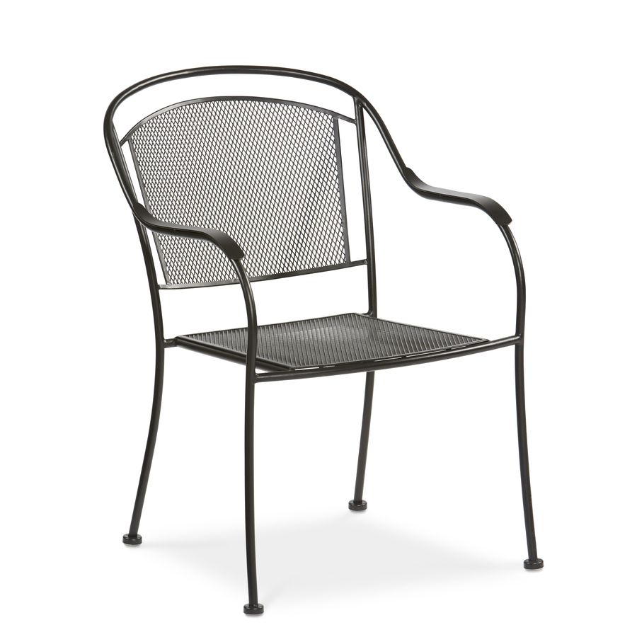 Outdoor Black Metal Stackable Patio Chair Home Express Ltd In
