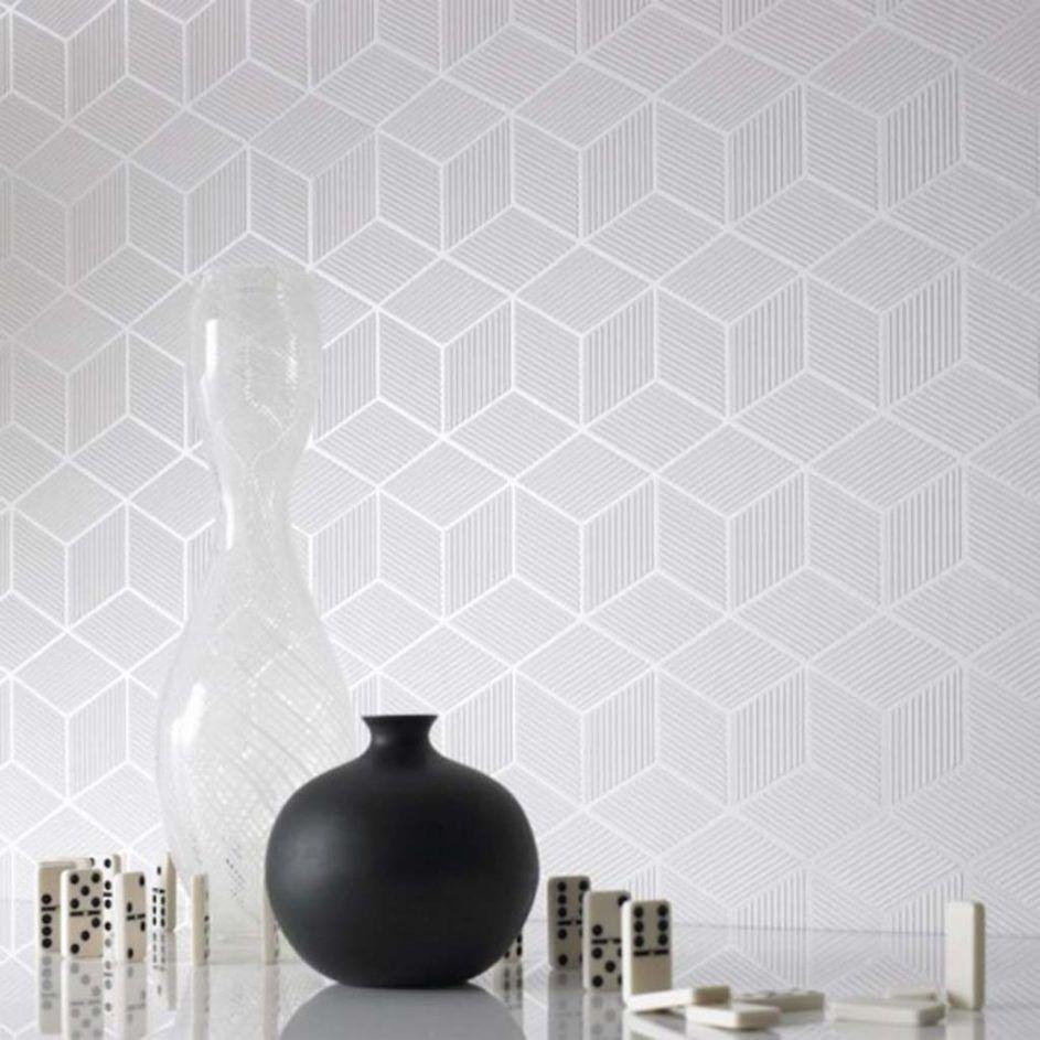 Design Ideas: Mesmerizing Modern Bathroom Wallpaper 75 Mid Century ...