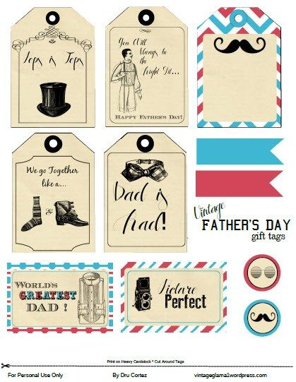 Free Printable Download   Fathers Day Gift Tags