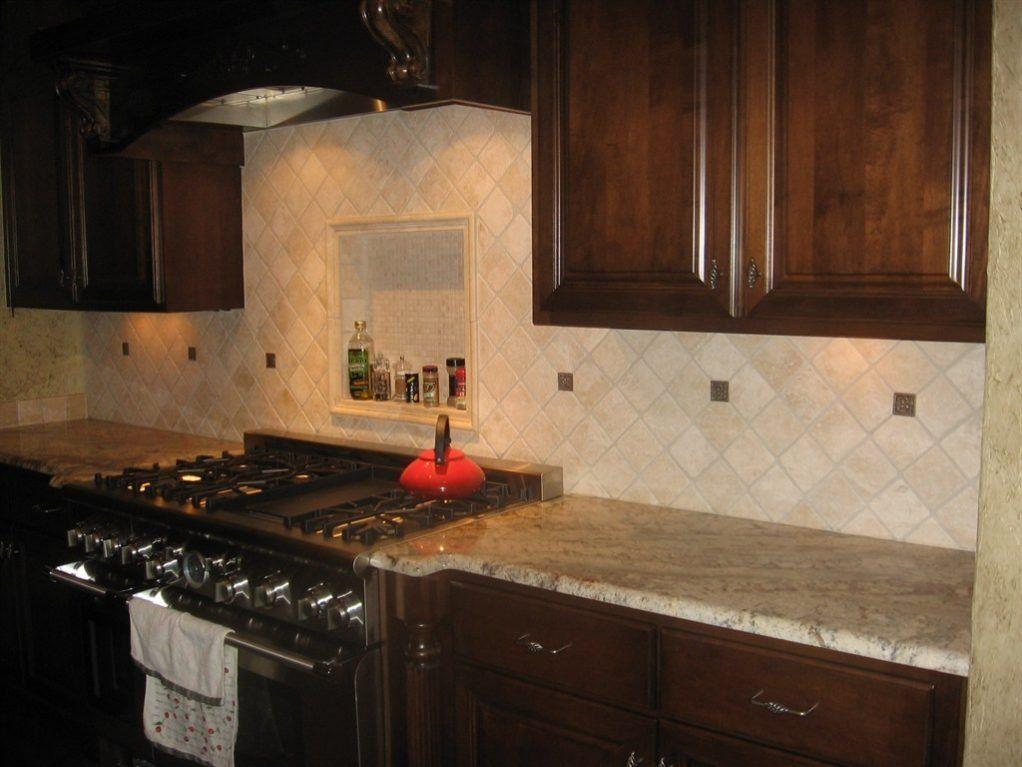 Image result for limestone tile kitchen backsplash Savona Kitchen