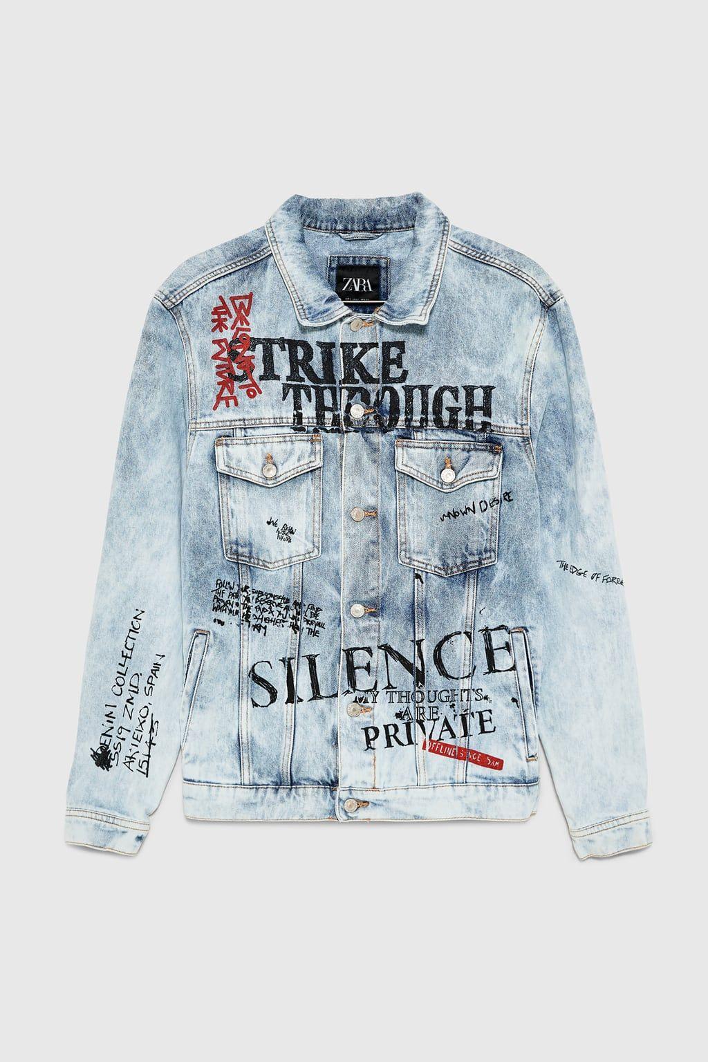 Graffiti Denim Jacket Jackets Man Zara United States Denim Jacket Custom Denim Jackets Denim Jacket Men [ 1536 x 1024 Pixel ]