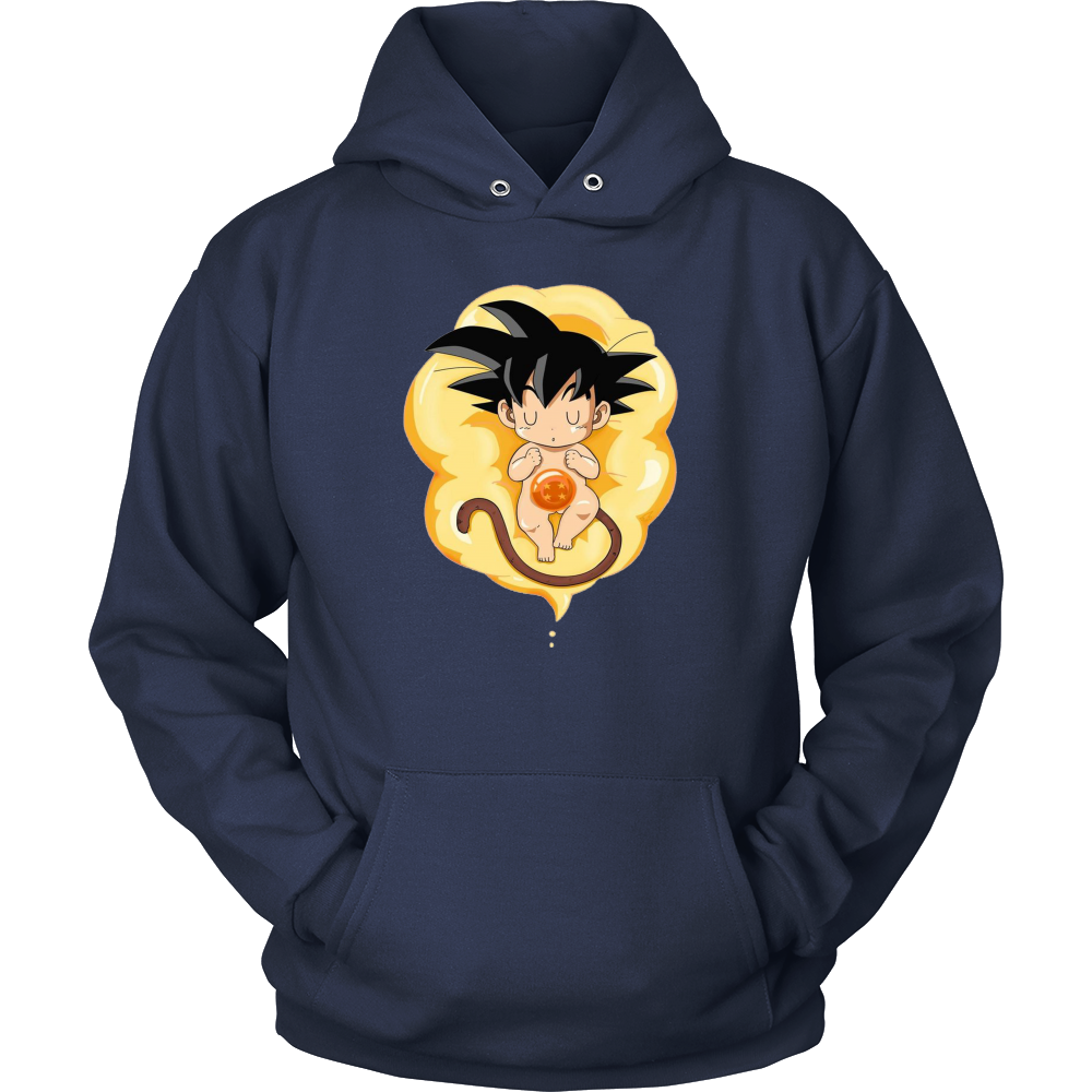 Dragon Ball Z Super Hoodie Baby Goku On Cloud Dbz Anime Pullover Hoodie Fashion Style Outfit Mensfashion Goku Vege Hoodies Dragon Ball Z Dragon Ball