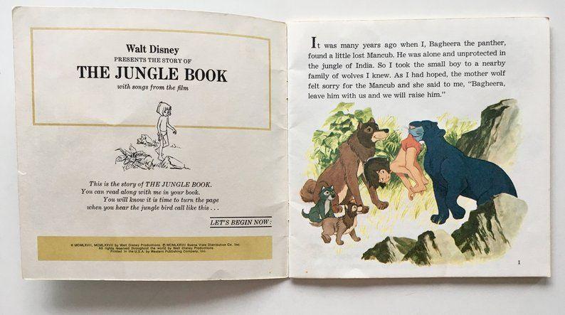 The Jungle Book 7 Vinyl Record Book Disneyland 319