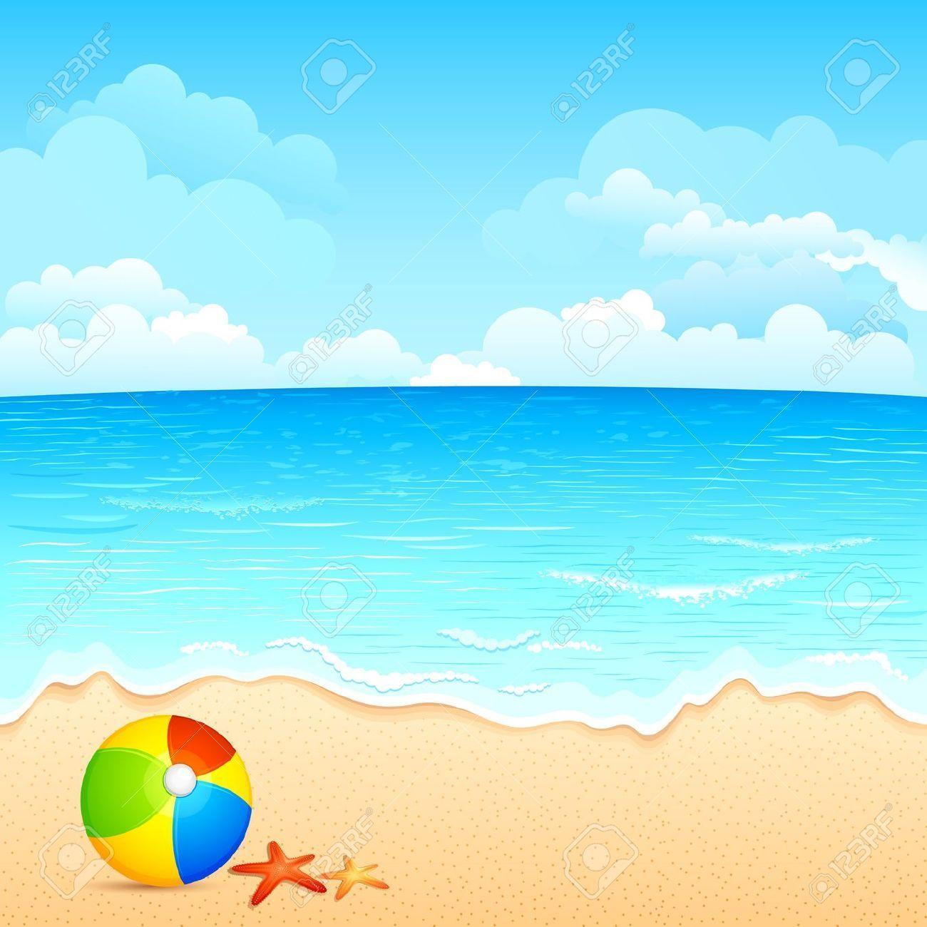 Cartoon clouds beach. Zip up clipart beachsceneclipart