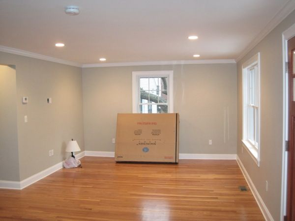 revere pewter paint by benjamin moore not sure i like with the floors