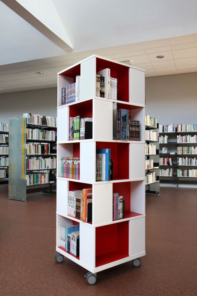 Simple Custom Bookshelves : Portable Home Library Design ...