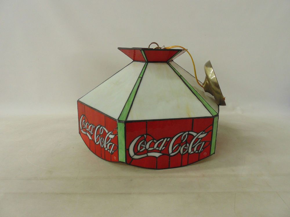 Vintage Coca Cola Hanging Light Lamp Bar Pool Table In Plastic18