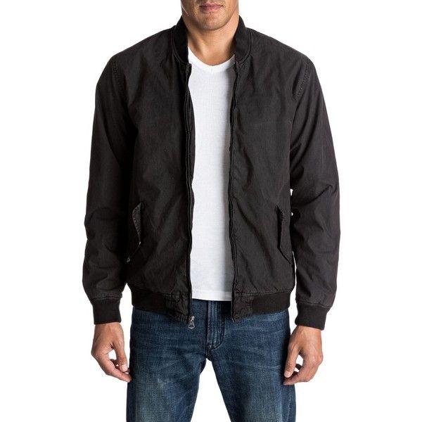 7c0ea0d15 Men's Quiksilver Delta Deal Bomber Jacket ($80) ❤ liked on Polyvore ...