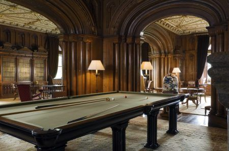 The Library At Penrhyn Castle The Billiard Table Is Made Of Slate From The Nearby Quarries C Ntpl Andreas Von Ein English Country House Home Libraries Penrhyn