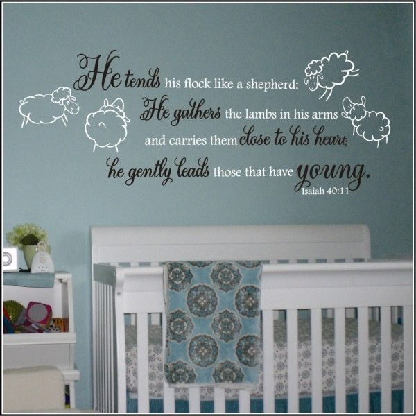Lamb Theme Nursery Wall Quote Ecclesiastes Song Of Solomon Isaiah Jeremiah Decals
