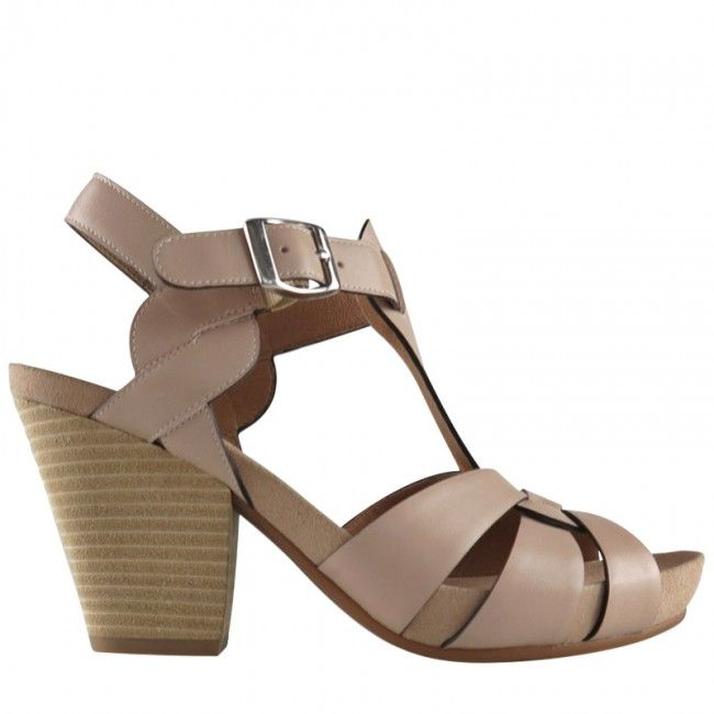 d5fdd8cc300 Wittner - Coopers heel in nude burnished leather.