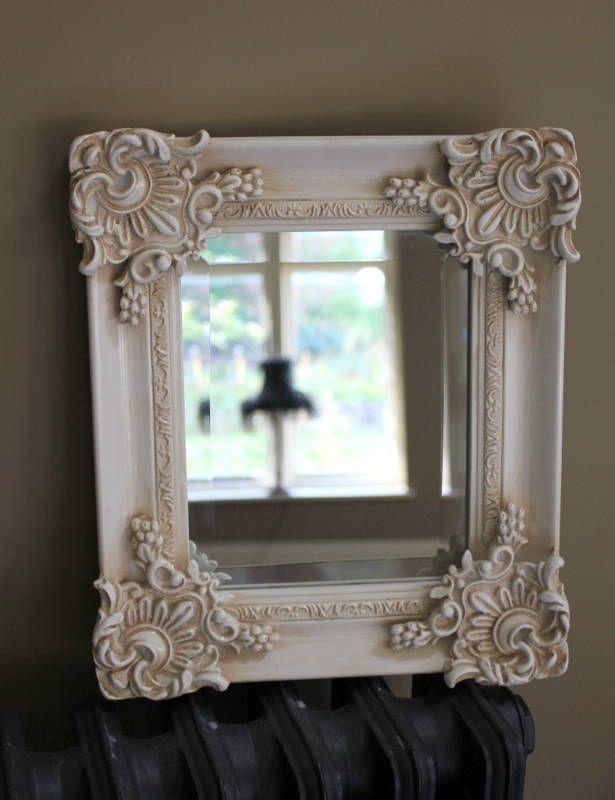 Cream Ornate Wall Mirror Shabby Chic Rococo French Vintage Chic Wall Ebay Shabby Chic Mirror Beautiful Mirrors
