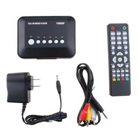 AGPtek 1080P HD USB HDMI SD/MMC Multi TV Media Player Support All Kinds of Media Videos with Remote Control