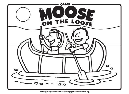 Download free coloring pages for Camp Moose on the Loose