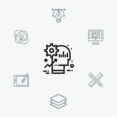 Brain vector icon sign symbol