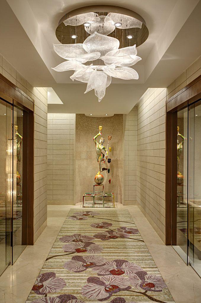 Park Hyatt Lasvit Chandelier design, Ceiling design