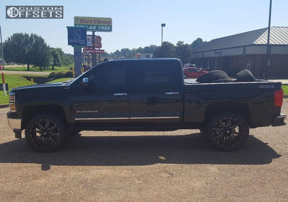 66245 8 2014 Silverado 1500 Chevrolet Leveling Kit Fuel 538 Black Nearly Flush Jpg 2014 Chevrolet Silverado 1500 Silverado 1500 Silverado