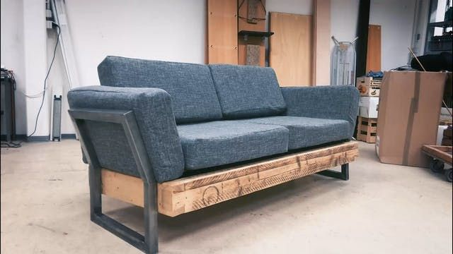 One Reddit User Built This Diy Reclaimed Sofa For 100 Diy Couch Diy Sofa Diy Furniture Couch