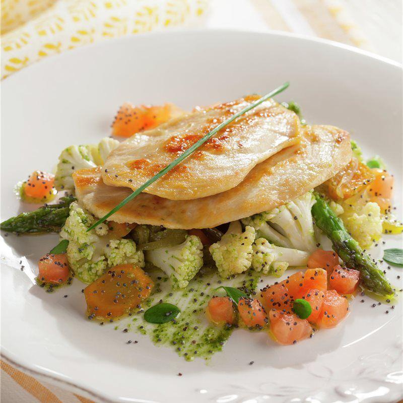 Pechuga De Pollo Con Verduras Al Pesto Receta Recetas Cenas Verduras Pechuga De Pollo Recetas Saludables
