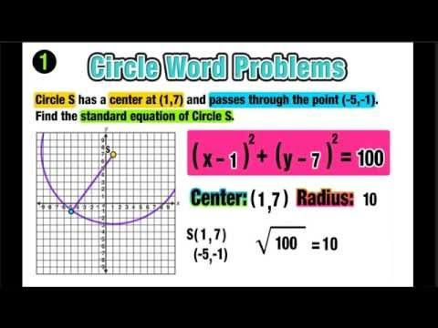 Word Problems The Equation Of A Circle W Distance Midpoint