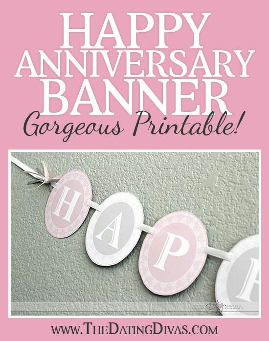happy anniversary banner printable