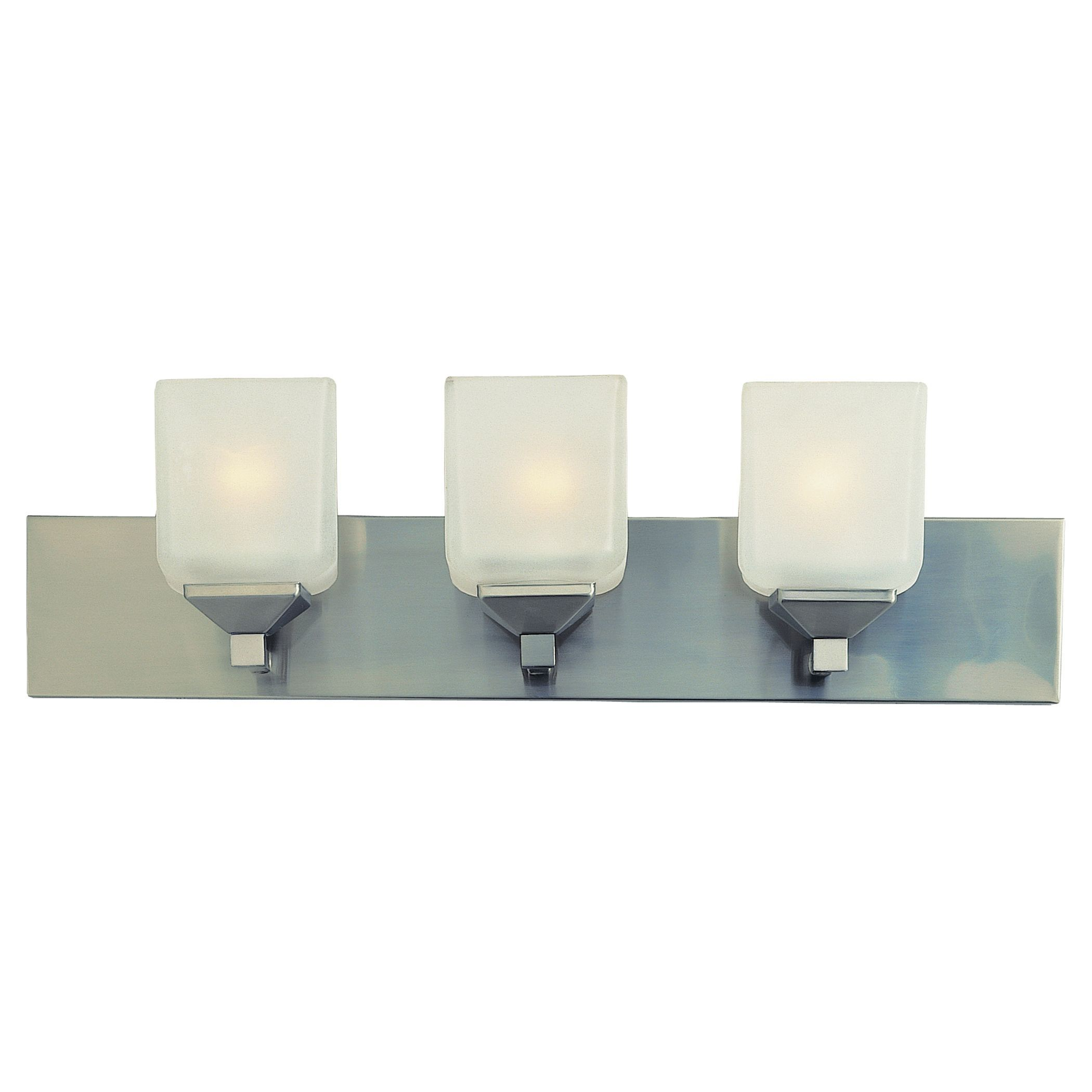 Bel Air Lighting CB-2803-PW 3 Light Pewter Cube Bath Bar (Lights ...