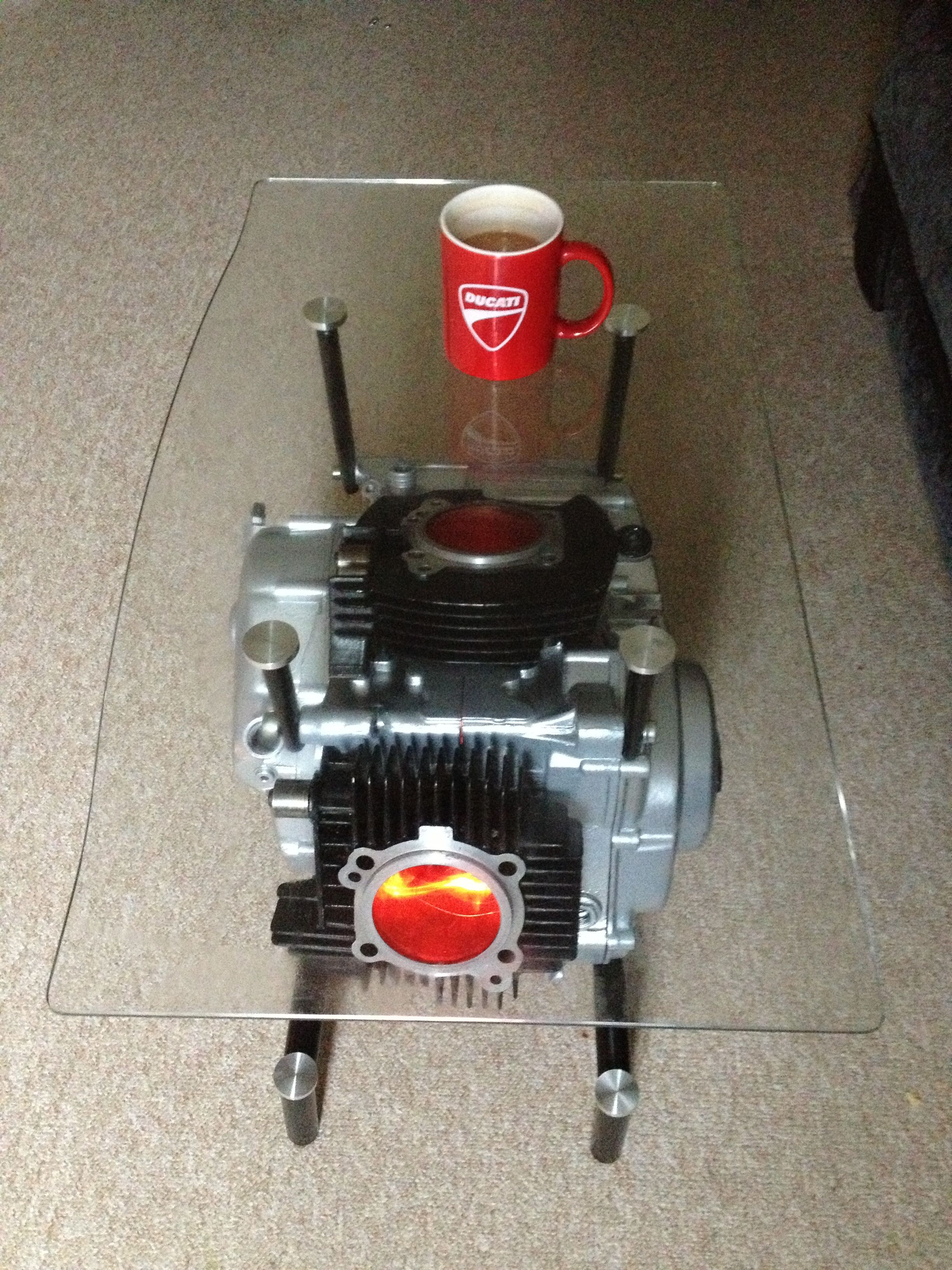 Ducati V Twin Engine Coffee Table Car Part Furniture Automotive