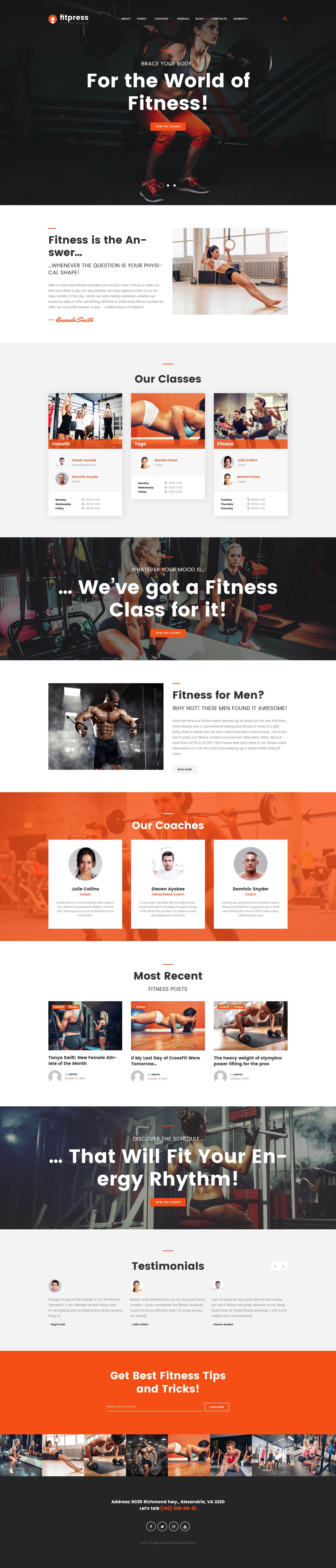 Fitpress - Fitness & Gym WordPress Theme | Pinterest | Wordpress ...