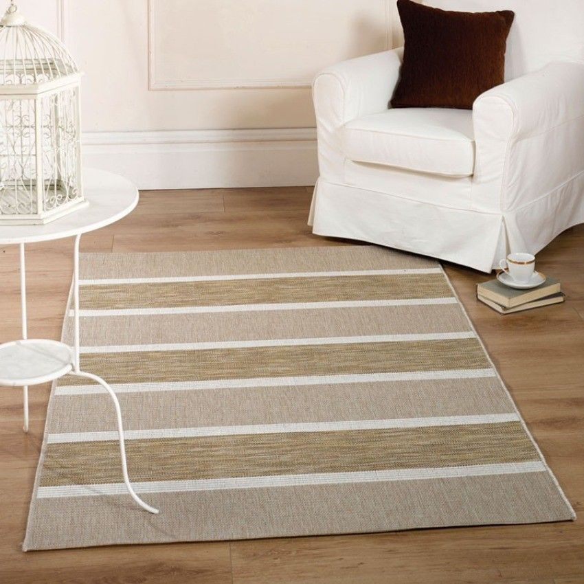 Natural colour hard wearaing extra large rug 160x230cms - ideal for kitchens, conservatories and living room spaces