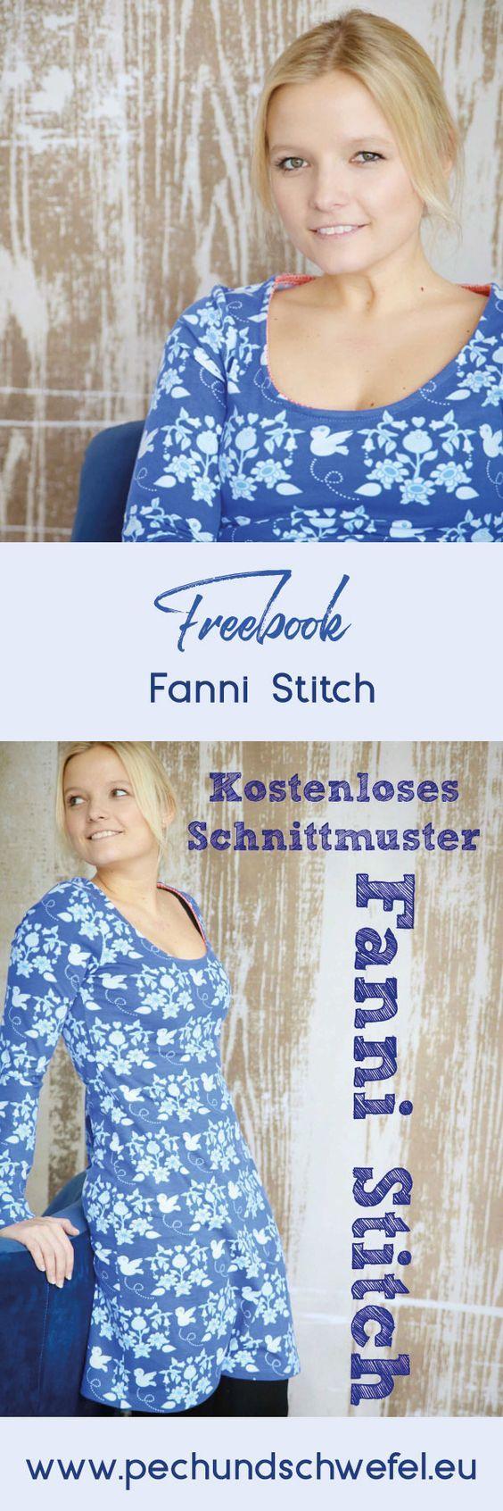 Kostenlose Anleitung - Schnittmuster Fanni Stitch | figurbetontes ...