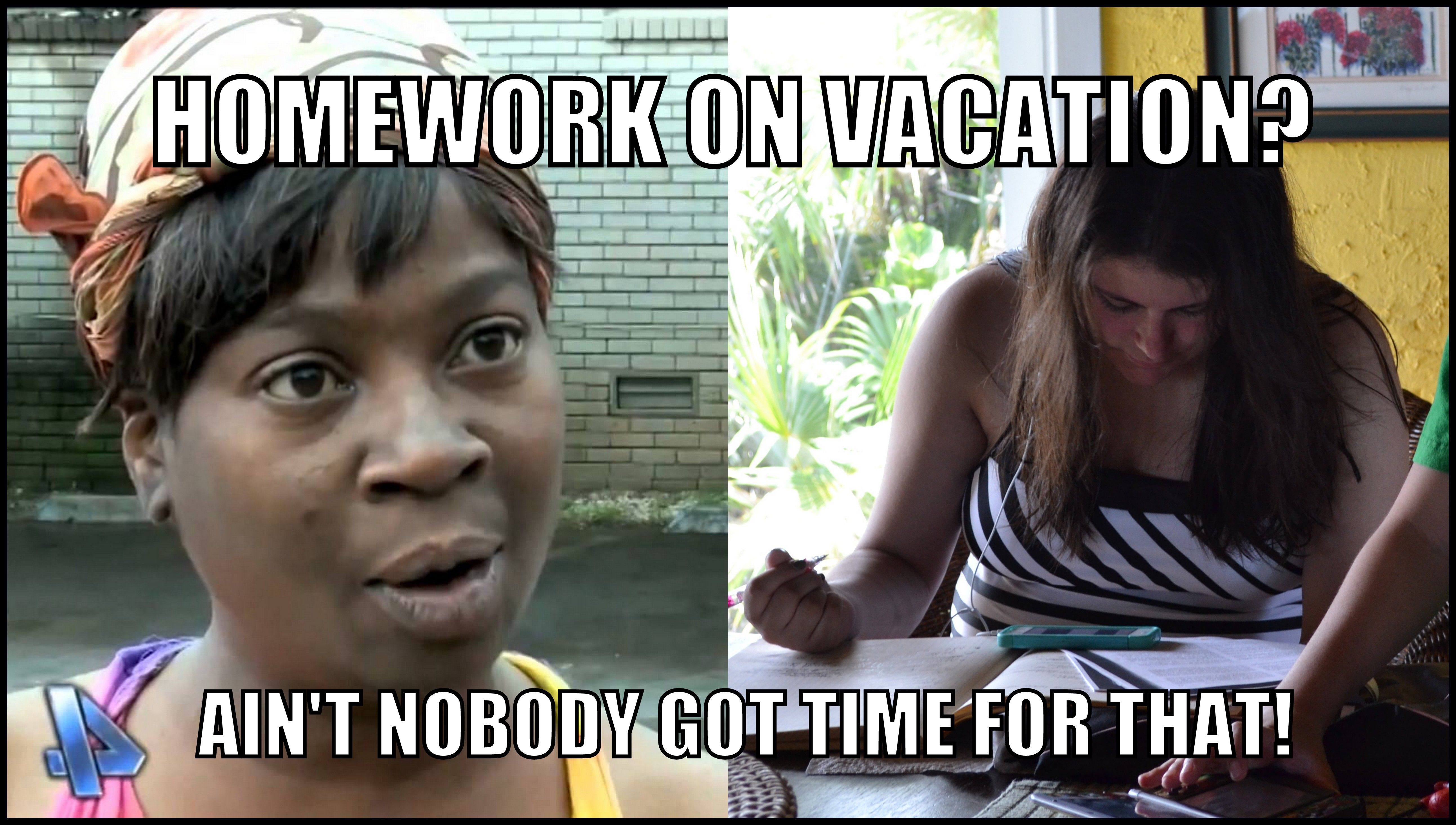 Homework on vacation meme vacation meme homework vacations holiday meme vacation