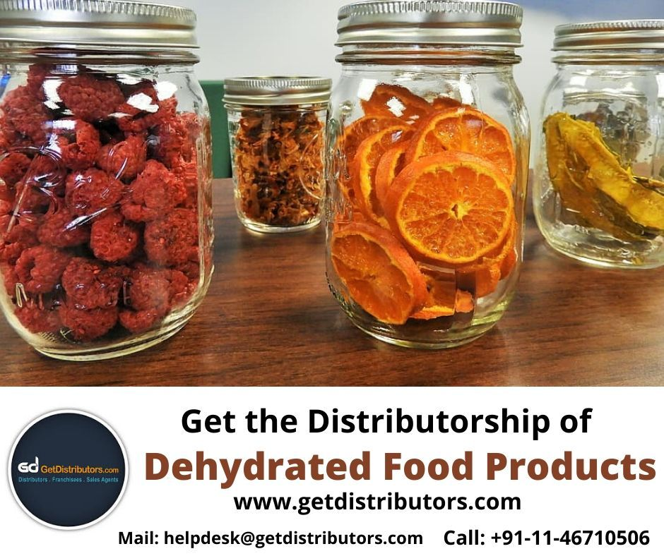 Require distributors for Dehydrated Food Products in 2020