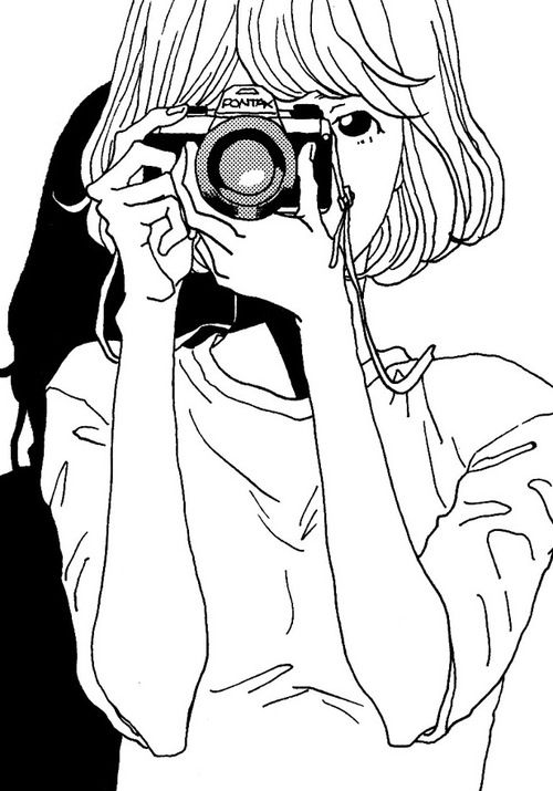 art, black and white, and camera image